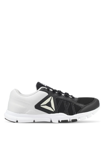 Reebok black and white Yourflex Trainette 9.0 MT Shoes RE691SH0SJSKMY_1
