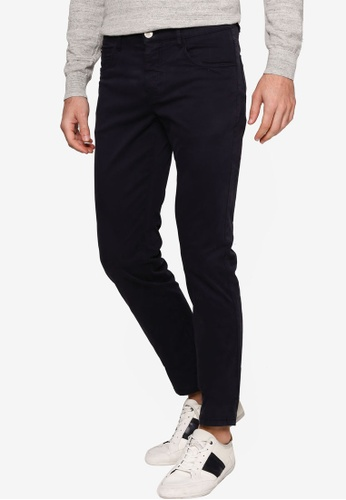 Sacoor Brothers navy Men's Casual Slim Fit Chino Trousers 02F75AA120EE0AGS_1