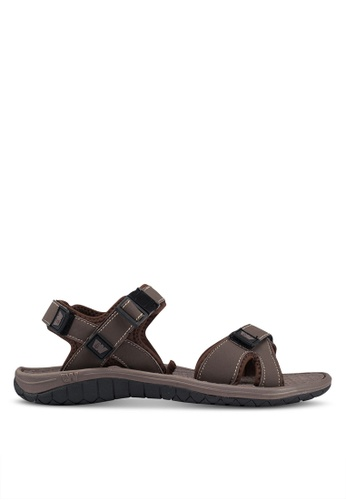 Weinbrenner brown Strap On Sandals AF327SHE9AA0B3GS_1
