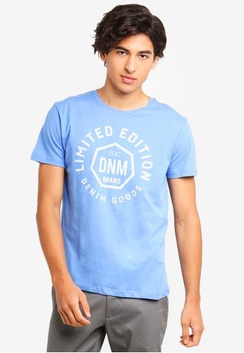 ESPRIT 藍色 休閒印花T恤 C77AEAA1785678GS_1
