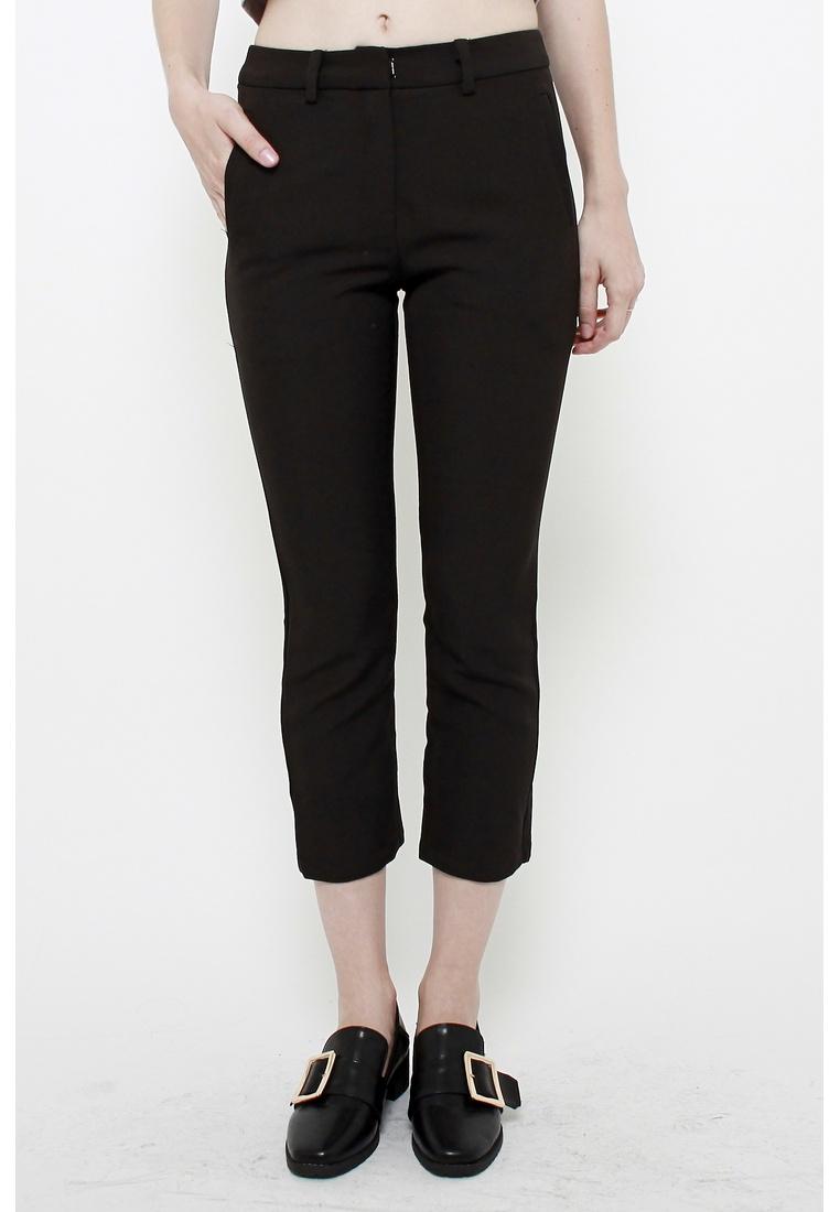 Jean Cropped Trousers Cigarette Black QLOTHE 4SRxq6dRw
