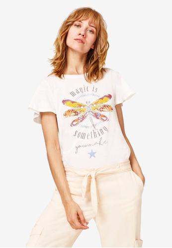 ESPRIT white Colourful Print T-Shirt B9357AA61DC8C3GS_1