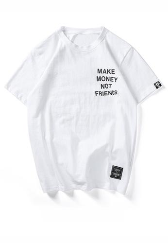 HAPPY FRIDAYS 英文主題印花短袖T恤 UP733 667DEAACFE46E2GS_1