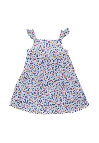 DU PAREIL AU MÊME (DPAM) beige All Over Print Sleeveless Dress A1D73KAD383EB5GS_1
