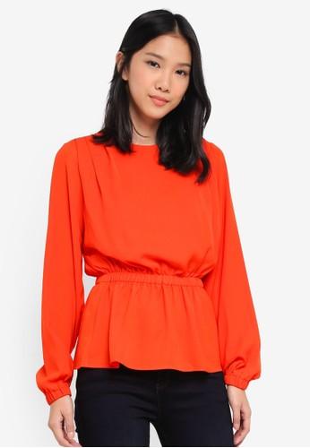 Y.A.S orange Yaspenny Long Sleeve Top 01B5DAA2529F47GS_1