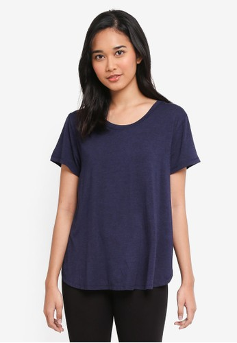 Cotton On Body navy Premium Sleep Curved T-Shirt E9844AA833192BGS_1