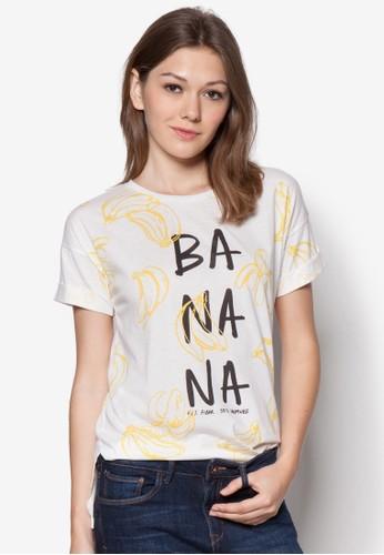 印花棉質長袖zalora時尚購物網的koumi koumi襯衫, 服飾, 服飾