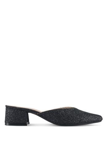 Cipela For Lubna black Cora Mule Block Heels CE81CSHFB117BDGS_1