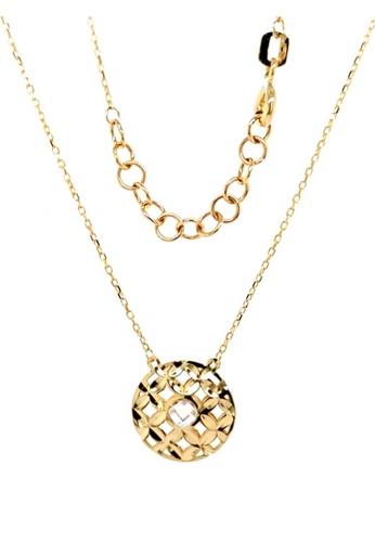 KARAT WORLD gold HQZ 18Kt Yellow Gold Chain Pendant 95CBFAC568D878GS_1