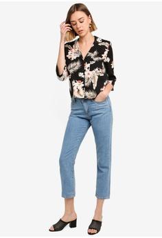 b3f513fcf5014 15% OFF River Island Alex Tropical Crop Shirt RM 199.00 NOW RM 168.90 Sizes  6 8 10 12 14