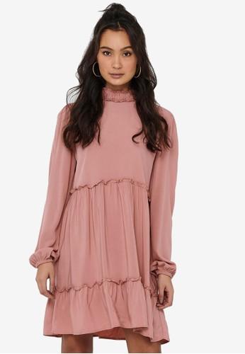 JACQUELINE DE YONG pink Kira Short Dress 30530AA951406BGS_1