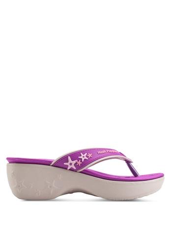 Hush Puppies purple Hush Puppies Women's Lollipop II (S-S) Wedge Sandals - Violet D0567SHAD3BC57GS_1