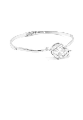 Glamorousky silver Trendy Mini Butterfly Bangle with Silver Austrian Element Crystals and CZ Bead 9FD4DAC29F496BGS_1