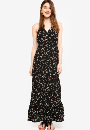 Something Borrowed black Wrap Camisole Maxi Dress 75506AA13905C1GS_1
