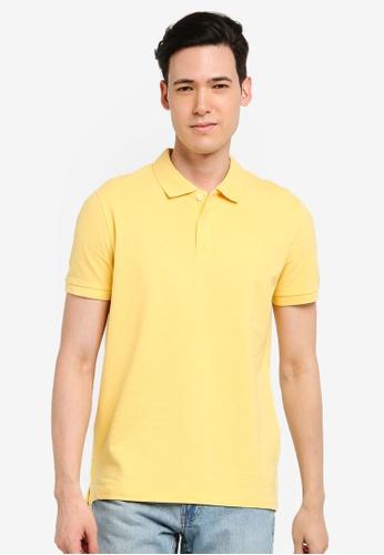 OVS 黃色 Basic POLO衫 824C1AABE635A5GS_1