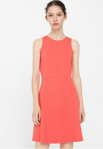 Mango red Textured Dress MA193AA82BSBMY_1