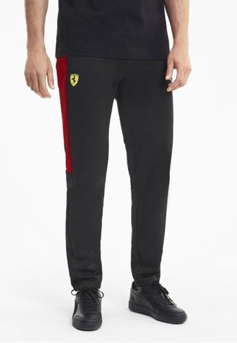 puma black Scuderia Ferrari Race T7 Men's Track Pants B8102AAC211FFFGS_1