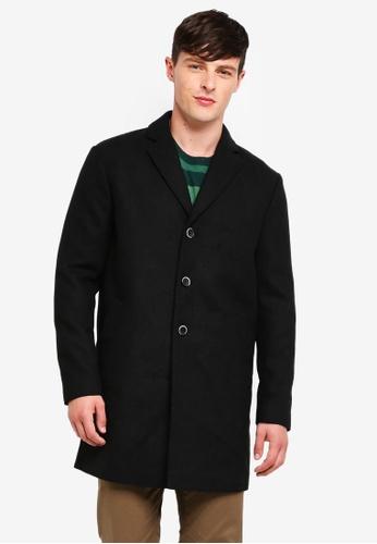 Sisley 灰色 修身長版大衣外套 36B45AAB3CB375GS_1