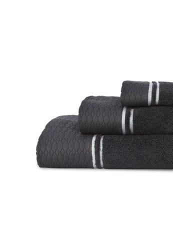 CANNON black CANNON ELLUXE LE GRAND EXCALIBUR &BRILLIANT WHITE BATH TOWEL C1291HL1841A6DGS_1