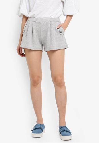 UniqTee grey Flare Shorts UN097AA0SHD7MY_1