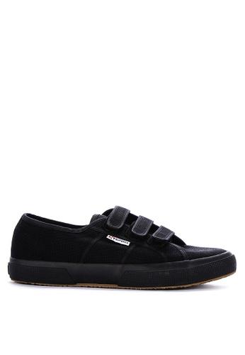 Superga black Cotton 3-Strap Sneakers F8AEASH4403665GS_1