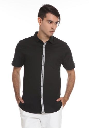 Manzone black ALVA-BLACK Shirt 9F737AA59E129EGS_1