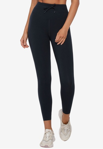 Lorna Jane 海軍藍色 Pace It Core Stability Ankle Biter Leggings 46125AAC08AAFEGS_1