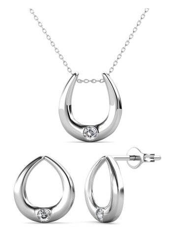 Her Jewellery silver Unity Set -  Embellished with Crystals from Swarovski® 4F10BAC99A5844GS_1