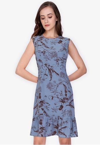ZALORA WORK multi Drop Hem Mini Dress E3511AA065E35EGS_1