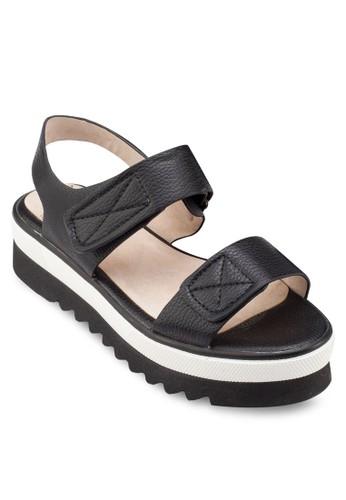 鱷魚紋撞色厚底涼鞋, esprit專櫃女鞋, 鞋