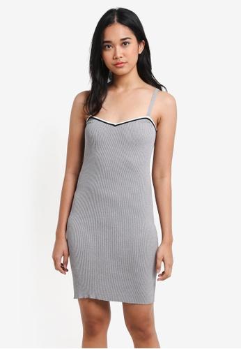 Something Borrowed grey Knitted Tank Mini Dress BDB22AAA290C00GS_1
