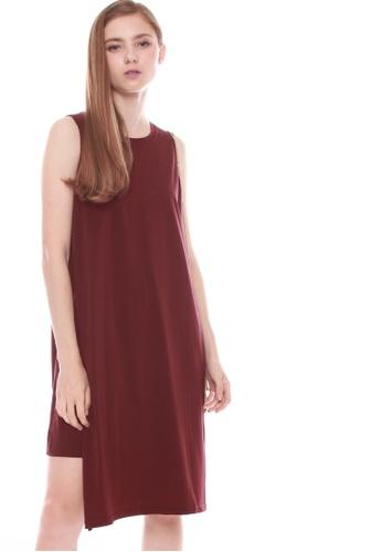 JOVET red Side Slit Dress FC53FAA8FAA2F3GS_1