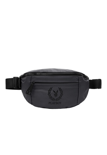 Playboy grey Unisex Waist Bag BE210AC9862EF8GS_1