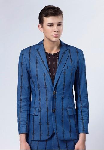 Life8 x Daniel Wong。荊棘牛仔西裝外套-03662esprit台灣-c, 服飾, 外套