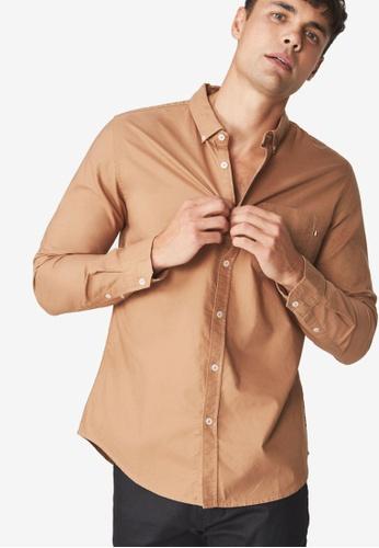 Cotton On 褐色 休閒襯衫 3E516AAAF7ACECGS_1