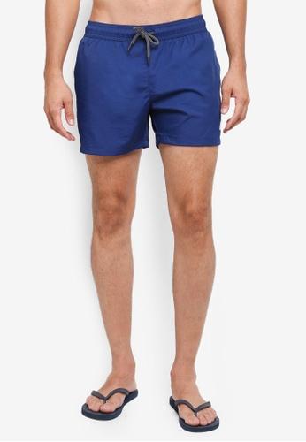 Topman blue Navy Swim Shorts 7DB9DAAF9F8FC7GS_1