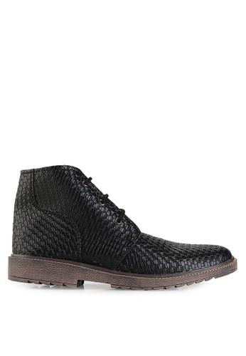 Dr. Kevin black Boots Shoes 1044 Hitam Leather DR982SH12UELID_1