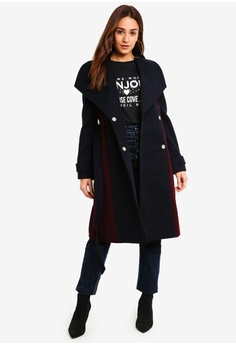 f8033d326e8a7 60% OFF Miss Selfridge Colour Block Coat RM 479.00 NOW RM 191.90 Sizes 14