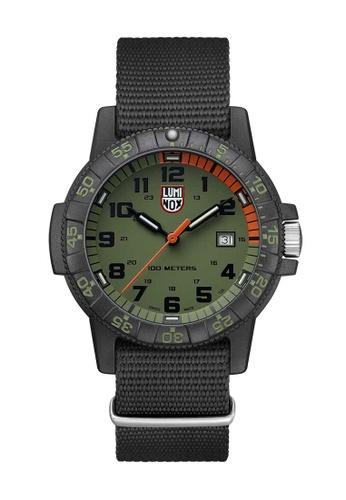 Luminox black Luminox Leatherback Sea Turtle Green and Black Nylon Watch DC5E4AC97DB060GS_1