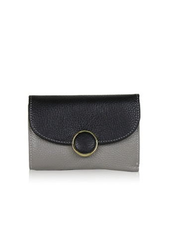 Dazz black and grey Calf Leather 2 tone Wallet - Black DA408AC0S9JPMY_1