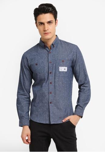 JAXON blue Tribal Long Sleeves Shirt D77F7AAE01283AGS_1