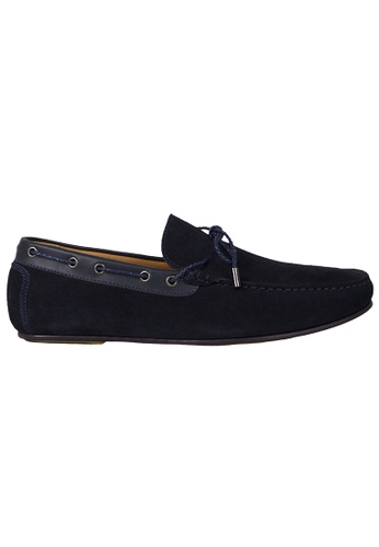 cd3e194bfe8 Tomaz blue Tomaz C318 Suede Leather Braided Loafers (Navy)  8C5EBSHDCF1322GS 1