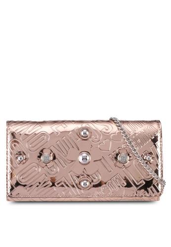 Love Moschino brown LOVE MOSCHINO Portafogli Embossed Wallet LO478AC0SXZ5MY_1