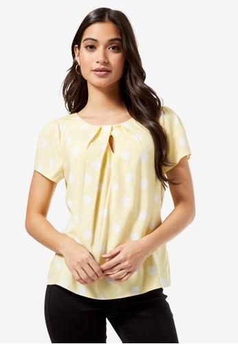 Dorothy Perkins yellow Billie Petite Lemon Spotted Viscose Shell Top 91AD5AA2F5E94FGS_1