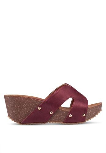 Noveni 紅色 休閒楔型鞋 842B8SHFED15CCGS_1
