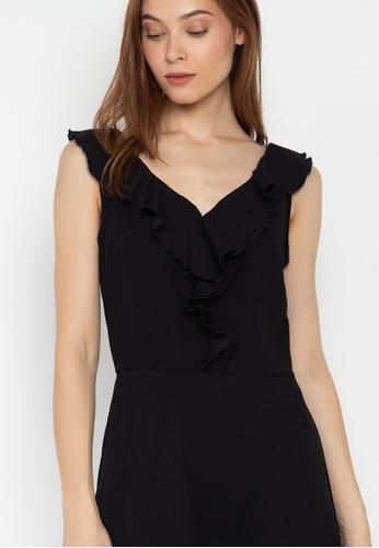 Shop Pois Ruffled V Cut Sleeveless Fit And Flare Dress Online on ZALORA  Philippines bf835da70