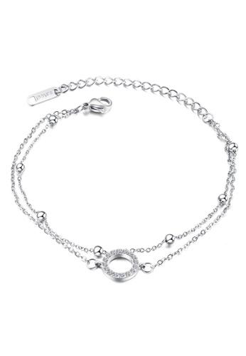 YOUNIQ silver YOUNIQ Ring Bubble Silver Slim Bracelet with Cubic Zirconia 8DBF8AC98D380EGS_1
