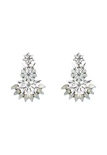 Red's Revenge white Elizabeth Gemstone Statement Earrings 8E161AC5C7003EGS_1