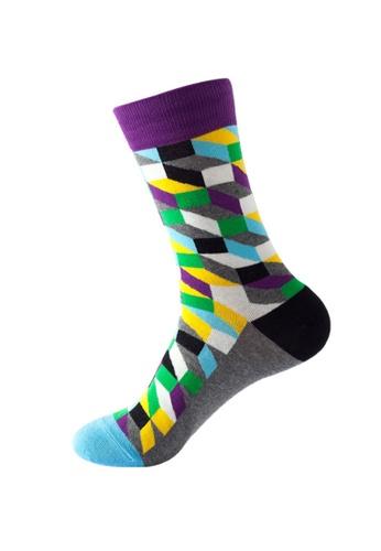Kings Collection blue Rhombus Pattern Cozy Socks (One Size) HS202382 BA450AAC6B37B5GS_1