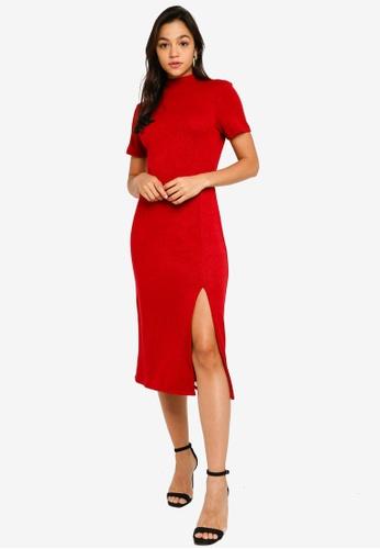 Mink Pink red Midi Dress With Splits 12F45AACBF10E5GS_1